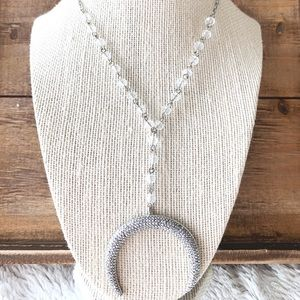 Double horned Druzy High End necklace Asleanna